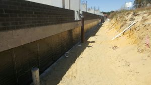 Aged Care Facility   Retaining wall