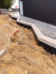 Primary School   Retaining wall